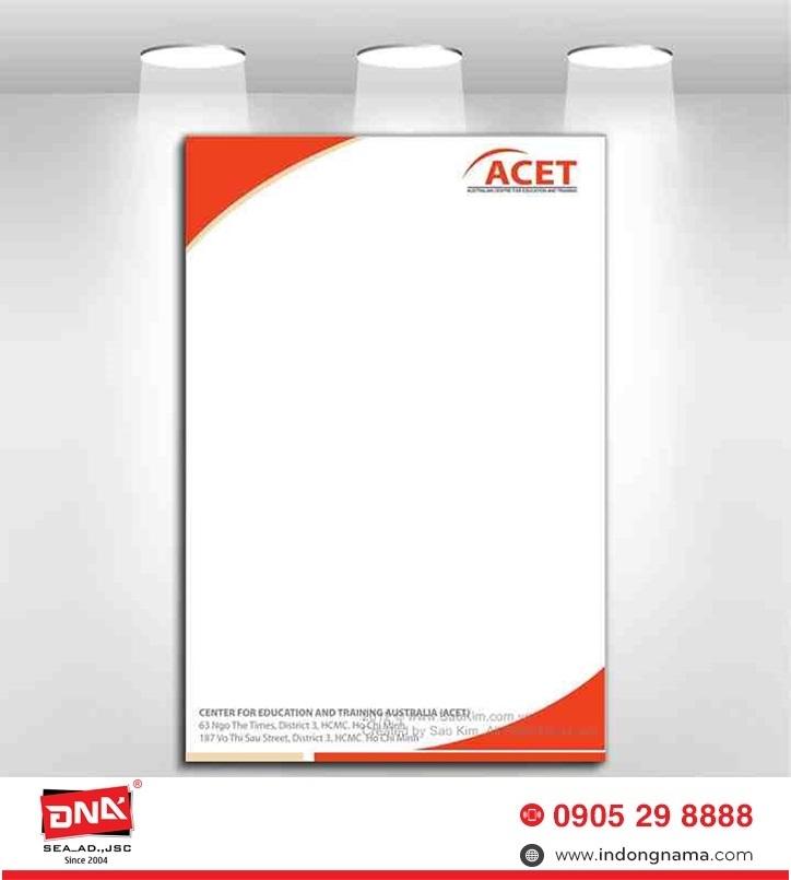 thiết kế tiêu đề thư